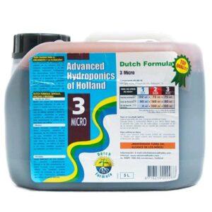 ADVANCED HYDROPONICS - DUTCH FORMULA MICRO 5L