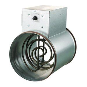 Riscaldatore d'aria da condotta con termostato e sensore