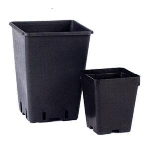 vaso quadrato nero